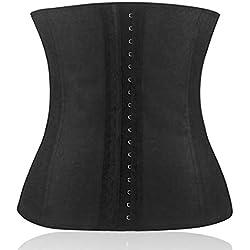Delicacydex Atmungsaktiv 4 Stahl Frauen Taille Trainer Cincher Komfortable Gummi Abnehmen Body Shaper Frauen Shapewear Für Frau - Schwarz M