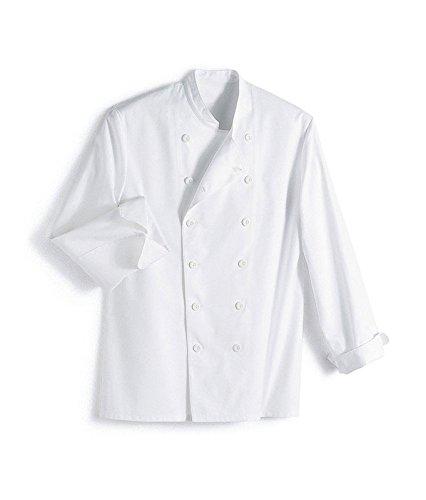 Vetiwork Veste de cuisine blanche à manches longues
