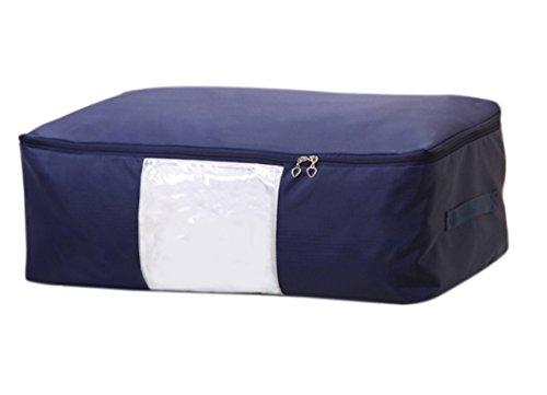 EVST – Unterbett-Kleidung-Aufbewahrungstasche, karierter Oxford-Stoff, Aufbewahrungstasche mit zwei Griffen dunkelblau (Kleidung Aufbewahrungstasche)