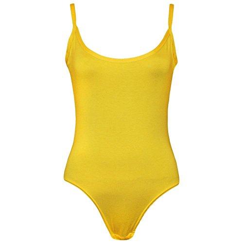 Janisramone Damen Top, Einfarbig * Einheitsgröße Gelb