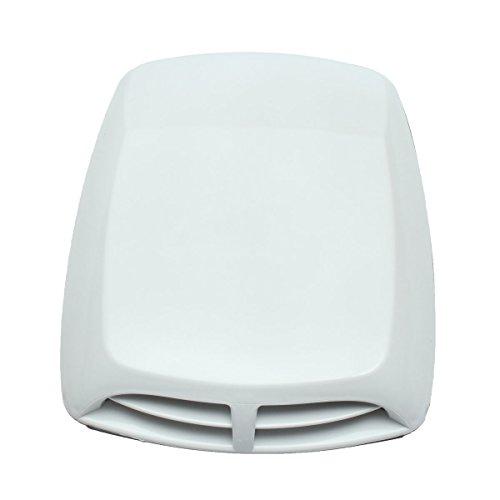 Abdeckung Vent Haube (Alamor 33X24Cm Universal Kunststoff Auto Luftstrom Einnehmen Motorhaube Haube Vent Abdeckung Dekoration-Weiß)