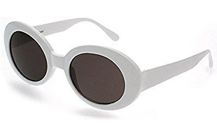 MyPartyShirt Kurt Cobain White Mirror Lens Sunglasses (Kurt Cobain Kostüm Shirt)