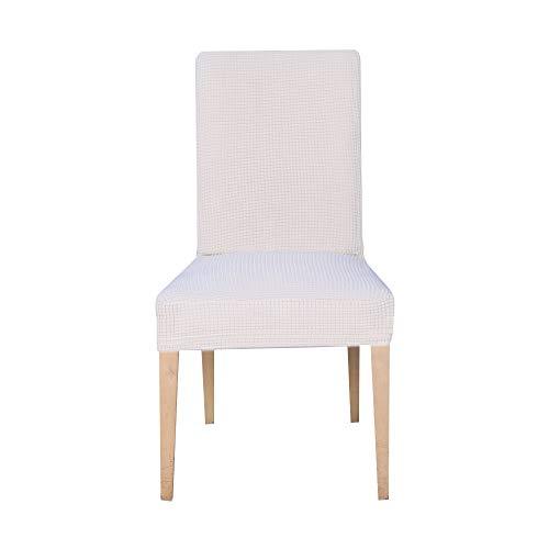 Beta 6 pezzi coprisedie con schienale, elasticizzato copertura della sedia, copertura fodera, banchetto sedia sedile slipcover per hone party hotel cerimonia di nozze posate da(riso bianco)