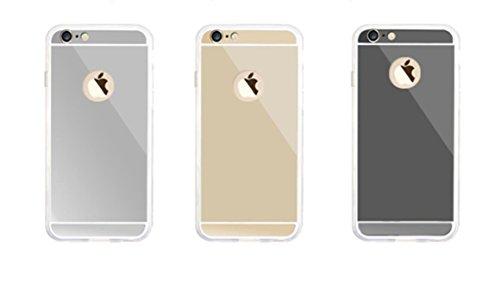 Incendemme Handyhülle Schutzfolie wie ein Spiegel für iPhone (für iPhone 6/ 6s, Silber) Silber