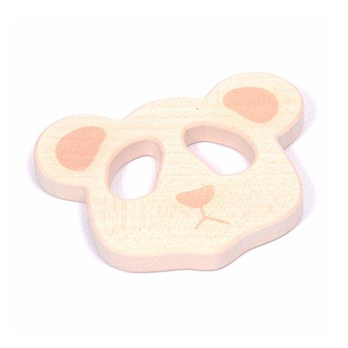 - Loullou Mobile Panda | Zubehör für Spielbogen oder als Beißring oder Greifring | Aus schadstofffreien Ahornholz in Natur, abgerundete geglättete Kanten | Maße: 7,6 x 10 x 1,2 cm