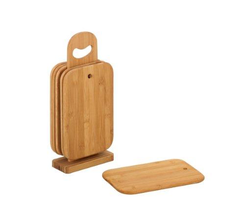Zeller 25265 Supporto con taglieri, ovale, in bambù, 15x7x32 cm, 7 pezzi