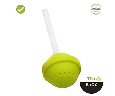 TEA-BAGZ/ Lot de 2 Infuseurs de Thé /En forme de Sucette Gourmande/ Couleur Vert / Idéal pour une infusion Bio/Tisane/Thé vert,/ Thé noir/ Accessoires Home et Cuisine/ Diffuseur à Thé Original/ Diffuseur à Thé de Haute Qualité / Diffuseur de thé 100% sili