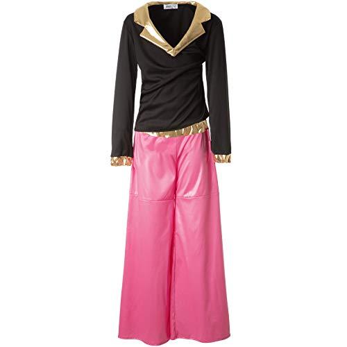 dressforfun 900498 - Jungenkostüm Disco Dancer, Farbenprächtiges, zweiteiliges Disco-Outfit (116 | Nr. 302382)
