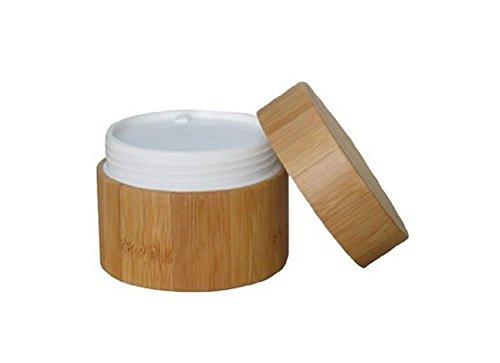 Nachfüllbare Umwelt-Bambus-Gläser mit Liner und Bambus-Deckel Creme Flasche Topf-Gläser Kosmetik-Container für Lotion, Cremes, Toner, Lippenbalsame, Make-up-Proben (15G) Creme Topf