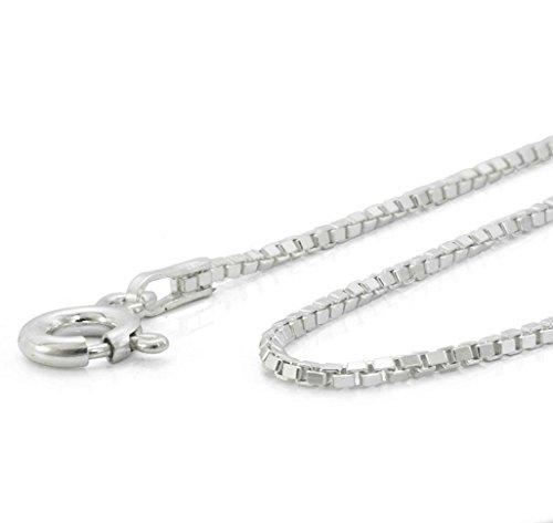 Jesus Kreuz Anhänger mit Halskette 925 Silber Damen Herren Silberkreuz mit Venezianer Kette 45cm Taufe Konformation -verschiedene Model #1751 (14 Silberkreuz) - 3