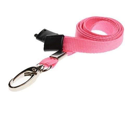 y Hals Schlüsselband Pink 100er Pack für Ausweis Abzeichen Halter ()