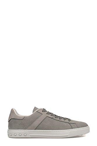 Tod's - Sneaker in nabuk effetto martellato Cromo+cemento+fondo bianco
