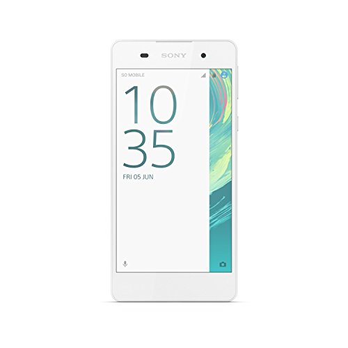 "Sony Xperia E5 Smartphone, Display 5"" IPS, Memoria Interna 16 GB, 1.5 GB RAM, Processore Quad-Core, Bianco"