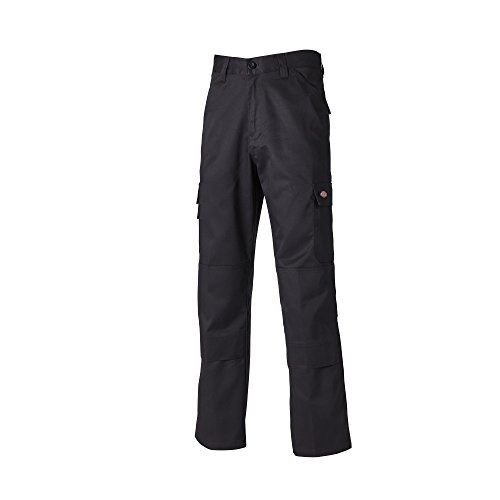 Long Action-standard (Dickies Mens Everyday Durable Cargo Pocket Work Pants (32T) (Black))