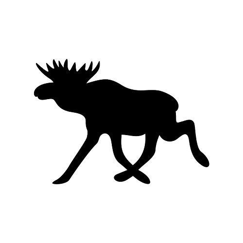 Elch Aufkleber Tieraufkleber Rentier Autoaufkleber (ROT)