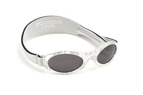 KidzBanz Adventure - Babysonnenbrille (0 - 2 Jahre), Silber Silver Leaf