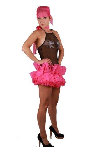 Halloween Kostüme Supersexy (Supersexy Piratin in rosa - schwarz * Karneval Kostüm Fasching Halloween Freibeuterin 34 - 36, Kleidergr. Damen:S)