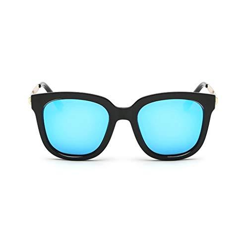Damenmode verspiegelte polarisierte Sonnenbrillen Vintage-Brillen Vintage-Brillen für das Fahren von Reisen (Color : Blue)