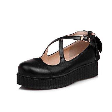 Confortevole ed elegante piatto scarpe donna Appartamenti Primavera Estate Autunno comfort informale in similpelle Liane Bowknot fibbia nera Beige rosa Pink