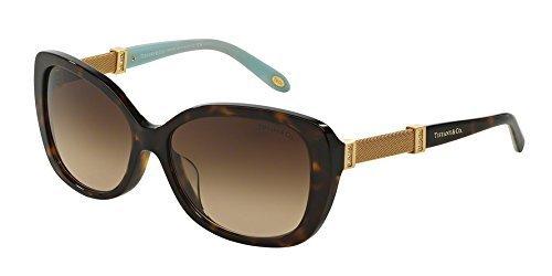 Tiffany & Co. Unisex TF4106B Sonnenbrille, Braun (Havana 80153B), One size (Herstellergröße: 57)