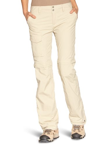 Columbia 2-in-1 Wanderhose für Damen, Silver Ridge Convertible Pants, Beige (Fossil), 8 (Short)