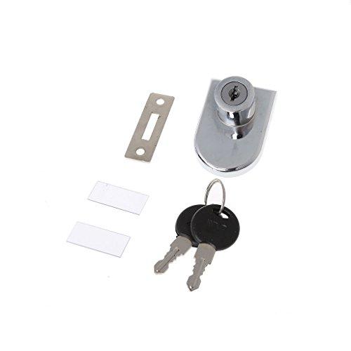 Lamdoo Vitrinenschrank Einzelglastürschloss Ersatz mit 2 Schlüsseln