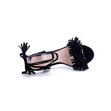 LvYuan Da donna-Sandali-Ufficio e lavoro Formale Serata e festa-Club Shoes-A stiletto-Sintetico Felpato-Nero Rosa Rosso Grigio Black