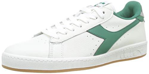 Diadora Game L Low, Sneaker Unisex Adulto, Bianco (BCO/Verde Verdeggiante/Gr Pulv C7915), 44.5 EU