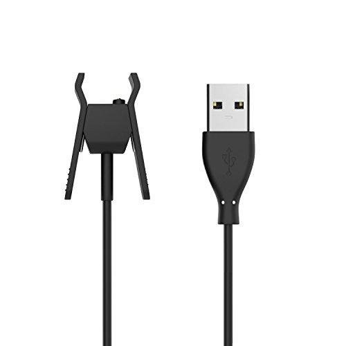 MoKo Fitbit Alta Caricabatteria, USB Cavo Caricatore di Ricambio Dock Adattatore per Fitbit Alta Smart Fitness Tracker, Nero
