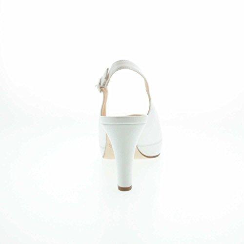 Unisa Nick_16 White Napa Silk, Sandali donna Bianco