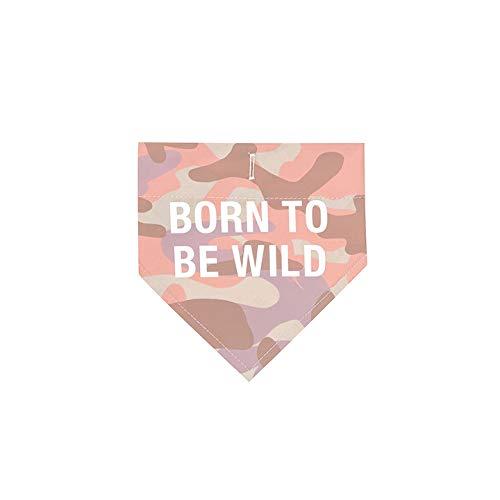 About Face Designs Born to Be Wild Hunde-Halstuch, Größe S/M, Pink Camo