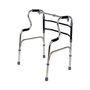WZHWALKER Gehhilfe Für Ältere Menschen, Gehhilfe Aus Aluminiumlegierung, Klappbarer Hilfswanderer Mit Vier Ecken