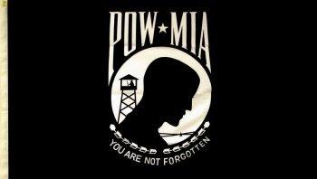 Mia-emblem (Powder, Flagge (7,6x 12,7cm Polyester)-Show Your American Pride Gefangenen Wars Flagge POW p.o.w)