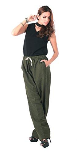 CandyHusky -  Pantaloni  - Donna Dark Olive Green