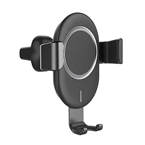 ZYNEN Gravity-Sensing Handyhalter Air Outlet Car Wireless-Ladegerät für iPhone, Samsung, Huawei, Sony, HTC,Black -