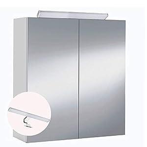 HABITMOBEL Mueble de baño camerino 2 Puertas Espejo con Iluminación LED incluida