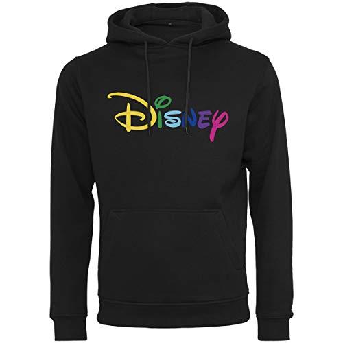 MERCHCODE Herren Disney Rainbow Logo EMB Hoody Kapuzenpullover Black, ()