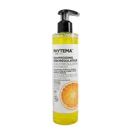 Shampooing Sébo-régulateur par Phytema Haircare | Cheveux gras – bio – shampooing apaisant | Luttez efficacement contre les cheveux gras avec un soin complet | 250 ml