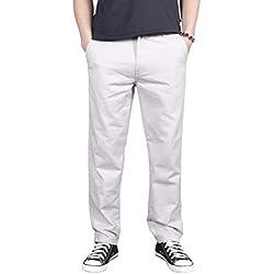Gmardar Pantalon Cargo Homme Pantalon de Travail Casual Match Pantalon Coton Grand Taille Style Militaire Multi Poches Couleurs Disponibles Doux Durable Printemps Été Automne Hiver (Blanc, 6XL)