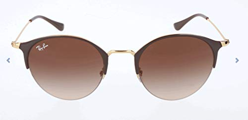 Ray-Ban RAYBAN Unisex-Erwachsene Sonnenbrille 3578 Gold Top Brown/Browngradientdarkbrown 50