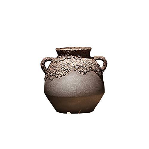 Vase Main Fait Main créatif en céramique Salon Armoire à vin Porche décoration Table à Manger Bureau Bar décorations rétro (ce Produit ne Vend Que des ZHAOJING (Size : A)