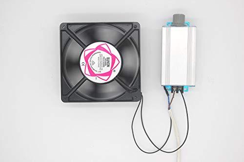AC220V-Hochleistungs-AC-Ventilator-Motordrehzahlregler Gebläse stufenlos Drehzahlschalter AC-Motorlüfter-Regler Lüfter stufenloser Drehzahlschalter einstellbarer piezoelektrischer Ofenthermostat - Ac-gebläse-ventilator