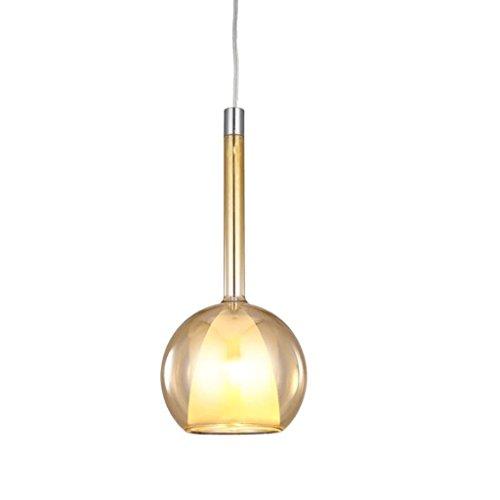 lustre GAODUZI Chambre Chevet Chandeliers Simple Art Moderne Verre Restaurant Bar Lampes (Couleur : Or)
