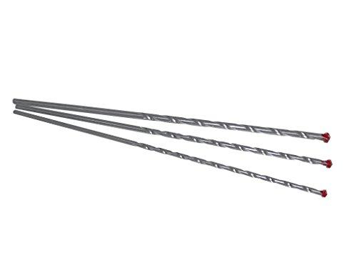 Broca para mampostería (Diámetro 8-10-12mm x 40cm hormigón broca para mampostería piedra hormigón