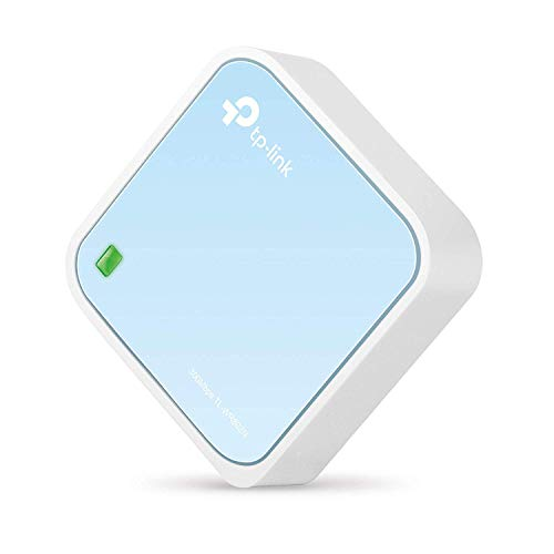 TP-Link TL-WR802N N300 WLAN Nano Router (Tragbar, Accesspoint, TV Adapter, Repeater, Router, Client, 300 Mbit/s (2,4GHz), Print, Media, FTP Server), blau/ weiß -