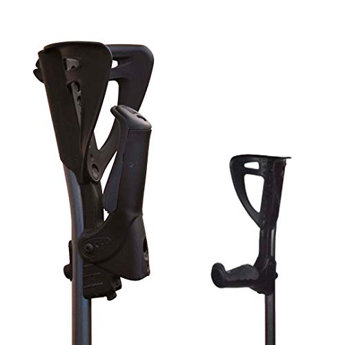 fdi | par de muletas ergotech con empuñadura plegable para optimizar el espacio y brazalete ajustable en 4 posiciones
