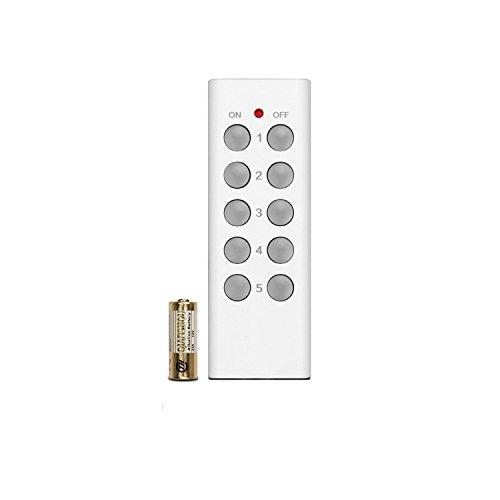 Etekcity Control Remoto de 5 Canales para Enchufes Inalámbricos, Color Blanco