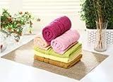 #4: Bombay Dyeing 100% Cotton Tulip Hand Towel Set of 6 Pcs