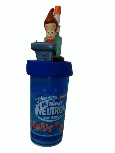 jimmy-neutron-by-viacom-super-cooler-tazza-con-coperchio-cannuccia-2003-vintage-tridimensionali-stat