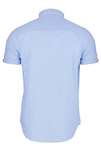 Brave Soul - Chemise casual - Avec col - Manches Courtes - Homme Bleu pâle